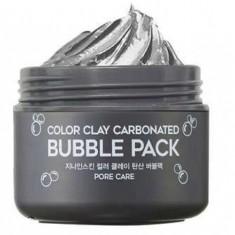 маска для лица глиняная пузырьковая berrisom g9 skin color clay carbonated bubble pack
