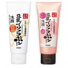 пенка для умывания и снятия макияжа увлажняющая sana soy milk moisture cleansing wash