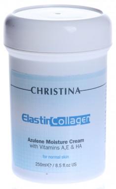 CHRISTINA Крем увлажняющий азуленовый с коллагеном и эластином для нормальной кожи / Elastin Collagen 250 мл