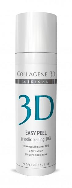 MEDICAL COLLAGENE 3D Гель-пилинг с хитозаном, на основе гликолевой кислоты 10% (pH 2,8) / Easy Peel 30 мл проф.