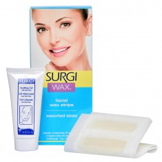 SURGI Набор для удаления волос на лице (полоски с воском + крем) / Assorted Honey Facical Wax Strips