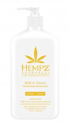 HEMPZ Молочко увлажняющее для тела, молоко и мед 500 мл