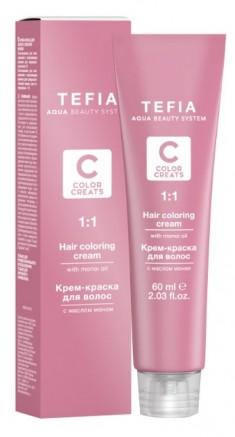 TEFIA 6.1 краска для волос, темный блондин пепельный / Color Creats 60 мл