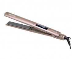 DEWAL PROFESSIONAL Щипцы для выпрямления волос Royal, с терморегулятором, титаново-турмалиновое покрытие, 24x120 мм, 60 Вт