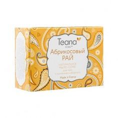 TEANA Мыло-скраб натуральное с косточками абрикоса для лица и тела Абрикосовый рай 100 г
