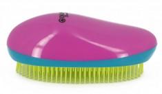 DEWAL BEAUTY Щетка массажная для легкого расчесывания волос, овальная, цвет розово-сине-желтый