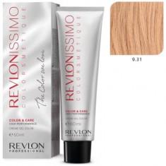 REVLON PROFESSIONAL 9.31 краска для волос, очень светлый блондин золотисто-пепельный / RP REVLONISSIMO COLORSMETIQUE 60 мл