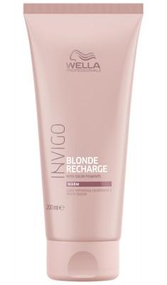 Wella Invigo Blonde Recharge Оттеночный бальзам-уход для тёплых светлых оттенков 200мл