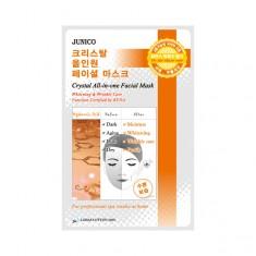 маска тканевая c гиалуровой кислотой  mijin junico crystal all-in-one facial mask hyaluronic