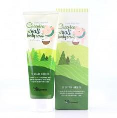 скраб для тела с экстрактом зеленого чая elizavecca greentea salt body scrub