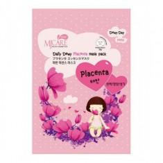маска тканевая с плацентой mijin mj care daily dewy placenta mask pack