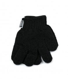 HAIRWAY Мочалка-перчатка черная 2 шт