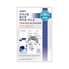 маска тканевая c коллагеном mijin junico crystal all-in-one facial mask collagen