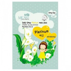 маска тканевая с платиной mijin mj care daily dewy platinum mask pack