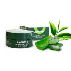патчи для глаз с экстрактом зеленого чая и алое ayoume green tea + aloe eye patch