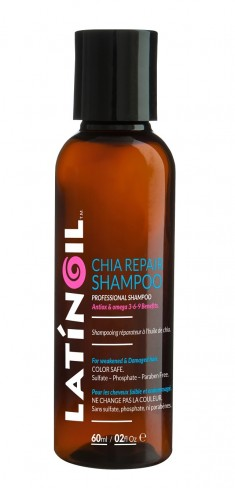 LATINOIL Шампунь восстанавливающий с маслом чиа / CHIA REPAIR SHAMPOO 60 мл
