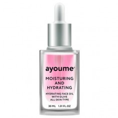 масло для лица увлажняющее ayoume moisturing & hydrating face oil with olive