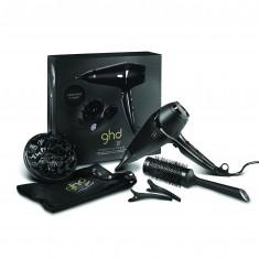 GHD Фен для сушки и укладки волос GHD Air Hairdryer 2100 W в наборе (фен с соплом + насадка диффузор, керамическая круглая щетка, 2 зажима, мягкая сумка) GOOD HAIR DAYS