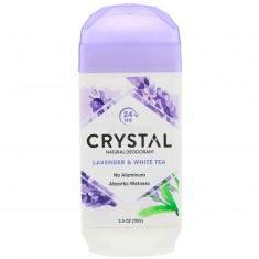 CRYSTAL Дезодорант твёрдый невидимый, лаванда и белый чай / Crystal Body Deodorant 70 г