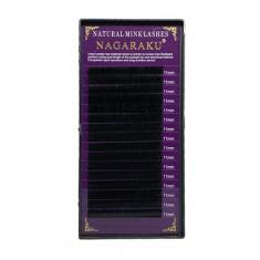 NAGARAKU, Ресницы на ленте Natural Mink, 11/0,07 мм, D-изгиб