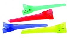 DEWAL PROFESSIONAL Зажим для волос цветной, пластик 6 см 12 шт/уп