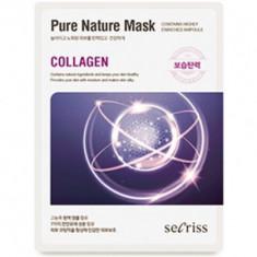 Маска тканевая с коллагеном Anskin Secriss Pure Nature Mask Pack Collagen 25мл