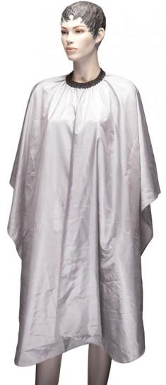 DEWAL PROFESSIONAL Пеньюар для стрижки Палитра, полиэстер, на крючках, серый 128х146 см