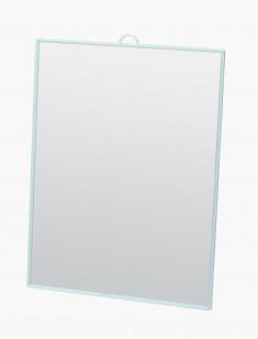 DEWAL BEAUTY Зеркало настольное, в бирюзовой оправе, на пластиковой подставке 17,5x24 см