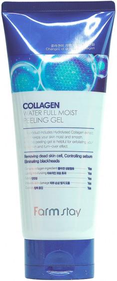 FARMSTAY Гель отшелушивающий увлажняющий с коллагеном / Collagen moistfull 180 мл