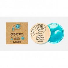гидрогелевые патчи с экстрактом голубой агавы l'sanic herbal blue agave hydrogel eye patches