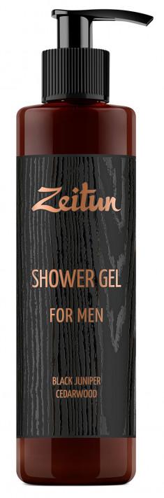 ZEITUN Гель для душа Черный можжевельник и кедр, для мужчин 250 мл