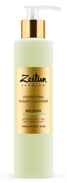 ZEITUN Гель сахарный увлажняющий для умывания, с гиалуроновой кислотой / MASDAR 200 мл