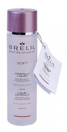 BRELIL PROFESSIONAL Кристаллы жидкие распутывающего и смягчающего действия, без силикона / BIOTREATMENT Soft 50 мл