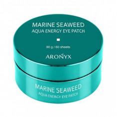 успокаивающие гидрогелевые патчи для глаз с морскими водорослями medi flower aronyx marine seaweed aqua energy eye patch