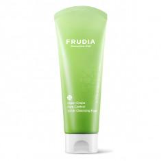 себорегулирующая скраб-пенка для умывания с виноградом frudia green grape pore control  scrub cleansing foam