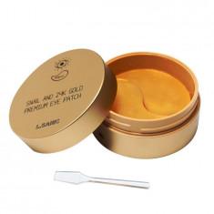 L.Sanic Гидрогелевые патчи для кожи вокруг глаз с муцином улитки и золотом N60