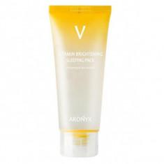 тонизирующая ночная маска с витамином с medi flower aronyx vitamin brightening sleeping pack