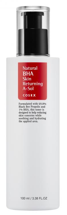 COSRX Тонер лечебный с BHA кислотами и прополисом для проблемной кожи / Natural BHA Skin Returning A-Sol 100 мл