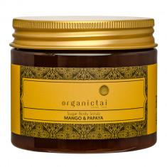 ORGANIC TAI Скраб на основе тростникового сахара для тела Манго и папайя / HOME SPA 200 мл