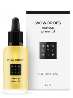 BEAUTIFIC Масло-праймер под макияж с маслами чиа, конопли и асаи / Wow Drops 30 мл