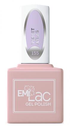 E.MI 155 WEC гель-лак для ногтей, Лиловый атлас / E.MiLac 9 мл