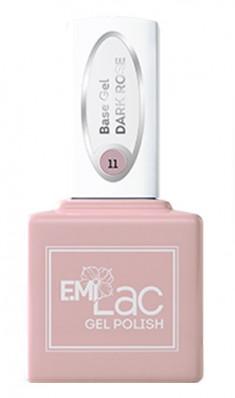 E.MI База камуфлирующая для ногтей, № 11 темно-розовый / E.MiLac Base Gel 15 мл