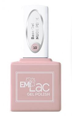 E.MI База камуфлирующая для ногтей, № 10 нюдово-розовый / E.MiLac Base Gel 6 мл