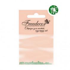Freedecor, Стразы для ногтей «Изумруд», 1,8 мм