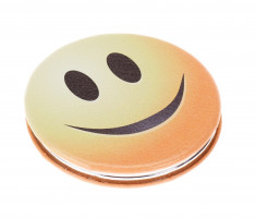DEWAL BEAUTY Зеркало Смайлики улыбка, карманное круглое, размер 60 х 60 х 0,9 мм