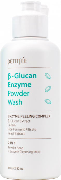 PETITFEE Пудра энзимная очищающая с бета-глюканом 80 г