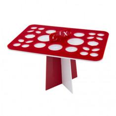 IRISK, Подставка-органайзер для сушки кистей, 26 ячеек, красно-белая