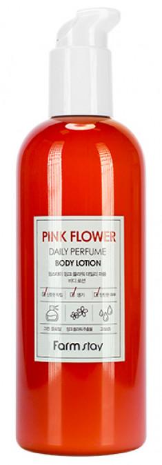 FARMSTAY Лосьон парфюмированный с экстрактом розовых цветов для тела 330 мл