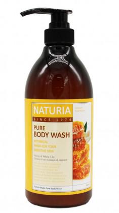 EVAS Гель для душа Мед - лилия / NATURIA PURE BODY WASH, Honey & White Lily 750 мл