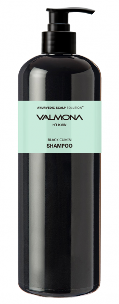 EVAS Шампунь для волос Аюрведа / VALMONA Ayurvedic Scalp Solution Black Cumin Shampoo 480 мл